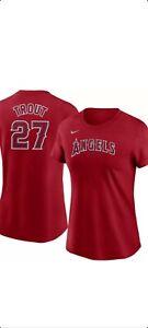 NWT Mike Trout Angels Women's Nike 2021 Season Jersey Shirt Size XL