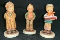 "(3) Hummel Goebel COLLECTORS CLUB 3 3/4"" Boy Figurines HONOR STUDENT-SOPRANO-etc"