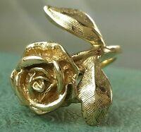 JAMES AVERY RETIRED 14K Large Rose Ring 7grams HEAVIEST