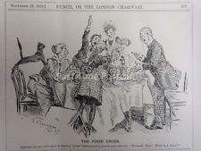 Ww1 1916 29 nov la crisis alimentaria-un bien madurado Domingo conjunta Punch Cartoon