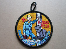 Tomahawk Scout Res. Trades Week BSA Cloth Patch Badge Boy Scouts Scouting (L2K)