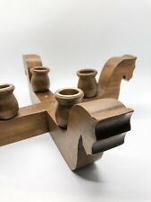 Vintage Wooden Horse Head Candle Holder Home Decoration Mid Century Mcm