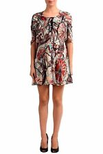 Just Cavalli Multi-Color Patterned Short Sleeve Women's Sheath Dress US S IT 40