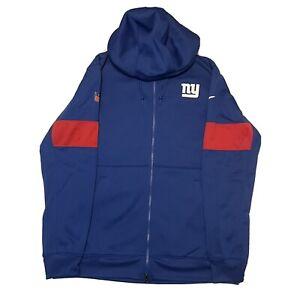 Nike New York Giants On Field Therma Full Zip NFL Hoodie Men's Sz L AO4132-495