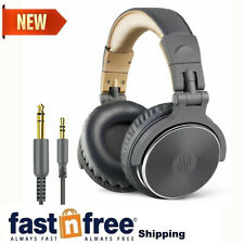 More details for oneodio studio pro-10 wired adapter-free closed back over-ear dj headphone grey