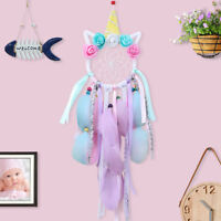 Colorful Unicorn Dream Catcher Kids Gifts Room Wall Hanging Wedding Party Decor