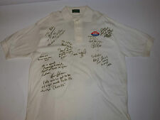 VINTAGE 1980s ROMAN GABRIEL SIGNED POLO SHIRT! OTHER SIGNATURES TOO!