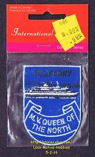 LMH PATCH Badge M.V. QUEEN of NORTH Ship  BC FERRY Sank 2006 CANADA Stena Danica