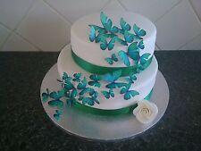 42 taille mixte Papillons Comestibles Décoration Gâteau célébration de mariages Vert Sarcelle