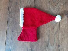 HAND KNITTED WHIPPET/GREYHOUND LURCHER WHIPPER NOVELTY SANTA HAT