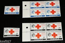 JAMAICA -1963 - QE II - RED CROSS CENTENARY - MNH - SINGLE + BLOCK OF 4 FOLIO:64