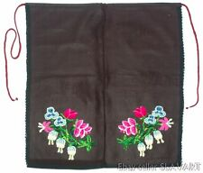 VINTAGE Bulgarian folk costume apron embroidered flowers ethnic peasant Balkan