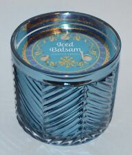 NEW BATH & BODY WORKS ICED BALSAM SCENTED CANDLE 13 OZ 3 WICK LARGE BLUE HTF