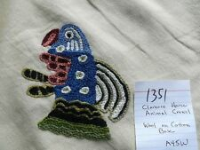 CLARENCE HOUSE ANIMAL CREWEL WOOL ON COTTON PRIMATIVO BTY #1351