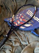 Wilson Jim Courier 26 Oversized Tennis Racket W Cover American Flag Stars Stripe