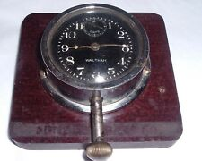 Antique WALTHAM 8-Day Dash Car automobile Clock THICK Convex Glass HEAVY