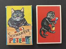 Vintage 1940s Schwarzer Peter Old Maid Playing Cards Game Germany Antique