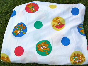 BETWEEN THE LIONS TWIN FITTED SHEET Rare Hard to Find Fabric Cartoon PBS Kids