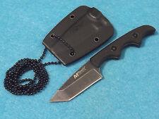 "MTech MT673 Tanto Neck Knife Black G-10 handle Stonewash blade 4 7/8"" overall"