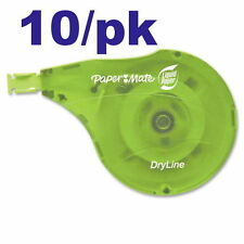 """Paper Mate Liquid Paper DryLine Correction Tape 1/6"""" x 472"""" 10/Pack pap6137406"""