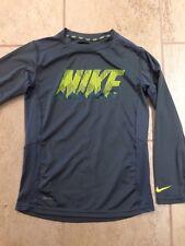 Nike Boys Medium Long Sleeve Shirt. Gray. Color. DriFit