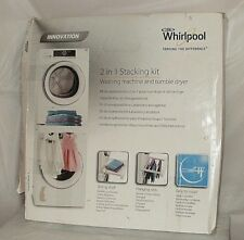 For Whirlpool Stacker Washer / Dryer 2 in 1 Stacking Kit a Shelf & Hanging Rack