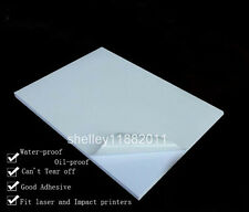 20x A4 White Synthetic PP Adhesive Paper Sticker Print Paper for Laser Printer