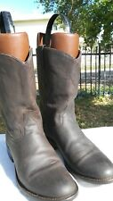 Mens Resistol Ranch Size 10 EE Brown Roper Cowboy Boots