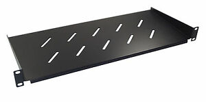 """1u 200mm Deep Vented Shelf for 19"""" Rack Cabinet Front Mounting Type"""