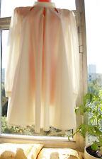 Ivory Semi Sheer Long Chiffon Sleeve Elegant Mini Dress Tv Cd L-Xl