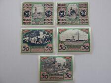 1921 Guesten 50 Pfennig Notes Lot of 5