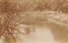 Albion Iowa~Chicken Creek~How Would You Like to Go Boat Riding Here?~1908 RPPC
