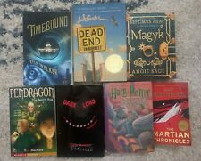 7 books lot:Harry Potter/Timebound/Martian Chronicles/Magyk/Pendragon/Dead End