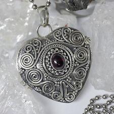 Handgefertigte Echtschmuck-Halsketten & -Anhänger aus Sterlingsilber Amethyst