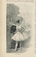 ANTIQUE SEAMSTRESS BALLERINA BALLET DANCER CORSET WAIST DRESSING ROOM OLD PRINT