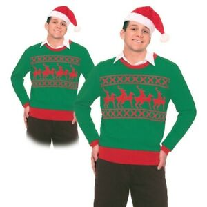 Reindeer Games Sweater Christmas Jumper Festive Unisex Fancy Dress Outfit Adults