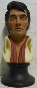 Armand Lamontagne Ultra Rare Wood Like Casting Sculpture of ELVIS PRESLEY Signed