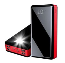 80000mah Power Bank Black &Red Portable Digital Display External Battery Charger