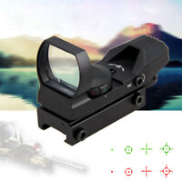 Tactical Holographic Rail Red Green Dot Laser Sight Scope 20mm Rifle Gun Mount