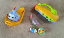 Lot de jouets de bain bateau sous-marin - jeu eveil 1er âge bébé