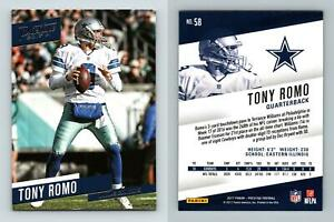 Tony Romo - Cowboys #58 Prestige Football 2017 Panini Trading Card