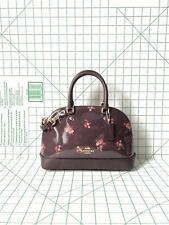 Coach F31354 Mini Sierra Satchel With Baby Bouquet Print Crossbody Bag Oxblood