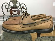 ROCK PORT  Brown Leather Boat Shoes Laced Loafers  Mens Size 13 M #07
