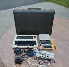 RADIO SHACK TRS-80 MODEL 100 WITH SUITCASE, TAPE RECORDER AND ACOUSTIC COUPLER