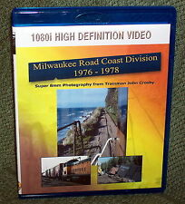 "20205 BLU-RAY HD TRAIN VIDEO ""MILWAUKEE ROAD COAST DIVISION 76 - 78"""