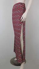 NWT $150 BCBG MAX AZRIA Maxi Skirt Side Slit Multi Color Geometric Print Size M