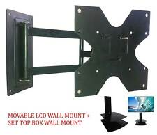 LCD/LED/PLASMA TV Movable Wall mount/ Corner Mount + Set Top Box Bracket / Stand