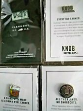 4 x Knob Creek Whiskey Lapel Pin / Promo Button - Clermont Kentucky - Brand New