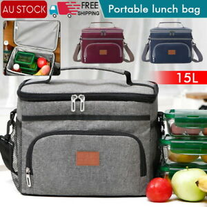 15L Outdoor Portable Lunch Bag Thermal Insulated Food Container Cooler BagPicnic