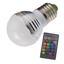 E27 3W RGB LED 16 Multi Color Magic Lamp Light Bulb With Wireless Remote Control